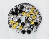 Pittsburgh Steelers, Pirates, and Penguins -  Black and Gold 8mm Swarovski Crystal Necklace