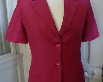 CACHAREL - sleeved jacket short vintage - size 36FR