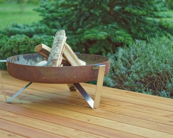 Steel Fire Pit ETNA - Contemporary Design