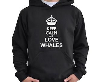 Keep calm and love Whale Hoodie
