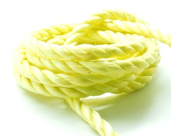 Lot of 2 meters of rope nylon 3 yellow strand 10 mm