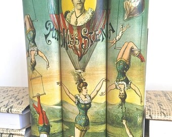 Vintage Circus Image Decorative Books, Book Decor Art Vintage Circus Image, Vintage Art Decorative Books, Wedding Prop, Neutral Book Decor