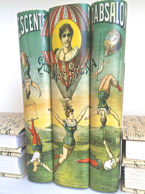 Vintage Circus Image Decorative Books Book Decor Art Vintage