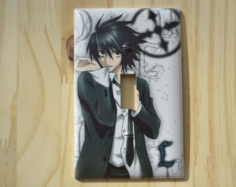 Death Note L Light Switch Cover