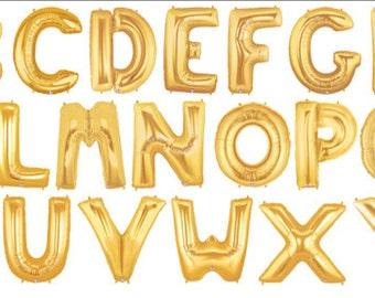"""40"""" Gold Letter Balloons"""