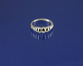Bubbles ring in 925 sterling silver