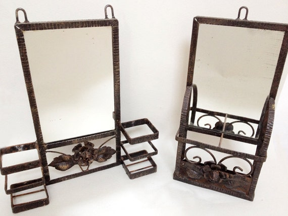 Set Of 2 French Vintage Bathroom Wrought By Parisvintagegalerie