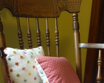 Petite Polka-Dot Pillows Set of 2