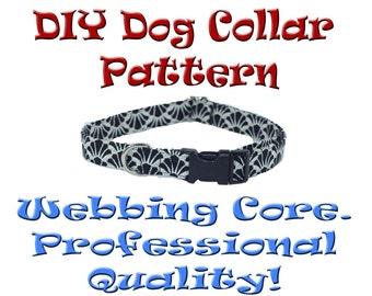 DIY Adjustable Dog Collar Pattern Quick Release Buckle Tutorial Instructions