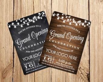 Printable Grand Opening Celebration invitation,  Grand Opening invitation,  Grand Opening Celebration invitation