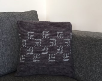 Shades of Grey: A Cushion Cover for a 35cm Throw Pillow