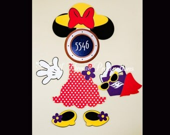 Beach Minnie Mouse Magnet for Disney Cruise Door