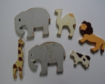 1940s Wooden Zoo Animals (set of six)
