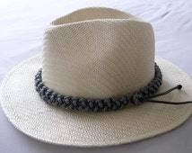 Hat band, Paracord 550, choice of colours, sizes  & 3 weaves, Custom made