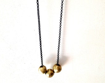 Gold Three Long Necklace