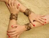 Bracelet Manchette Femme // Macramé Or // Tressé à la main // Bijoux  contemporain // Savoir-Faire français //
