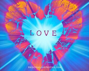 "Sedona Love Notes ""Love"" Greeting Card (blank)"