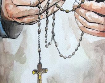 Wall Rosary Etsy