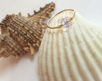 Gold conch earring, conch piercing, butterfly conch hoop, conch piercing jewelry, conch piercing hoop, conch earrings, crystal conch ring