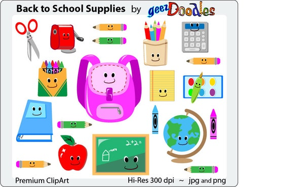 School Supplies Clipart Teacher clip art Back to School