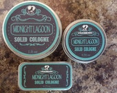 """All Natural Solid Cologne -- """"Midnight Lagoon""""  Captivating, Fresh, Masculine Scent"""