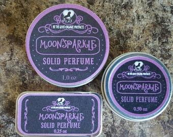 """Handmade Solid Perfume -- """"MoonSparkle"""" Feminine Perfume"""