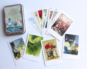 Alice in wonderland/ Wizard of Oz polaroid Mini Postcards 40 mini cards