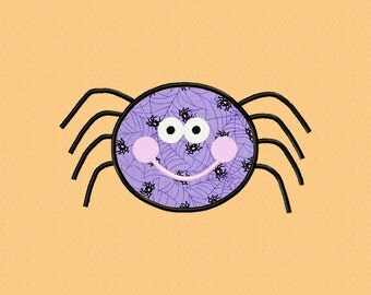 Halloween Spider Applique Machine Embroidery Single Design ~ 5 Sizes ~ INSTANT DOWNLOAD