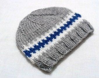 Baby knit Hat, Newborn  boy Hats, Christmas gift beanie, baby accessories, Winter Gray Hats, Kids Hats, Baby photo prop, İnfant boy beanie