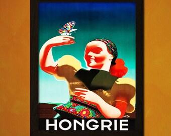 Hungary Travel Print 1935 - Vintage Travel Poster Tourism Wall Decor Hungary Poster Gift Vintage Hungary Travel  t