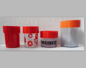 70s Vintage Canister // Erik Kold // Set Of 4 // Made In Denmark