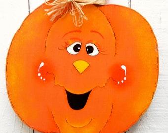 Halloween Jack O'Lantern Yard Sign Pumpkin Decor Halloween Decoration Painted Wood Pumpkin Outdoor Sign Decorative Painted Holiday Decor