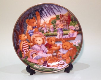 1991: Franklin Mint - TEDDY BEAR PICNIC - Limited Edition, Collctors Plate