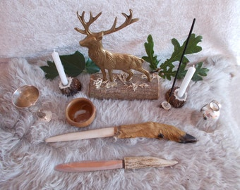 Cernunnos, Cernunnos Altar, Pagan Altar,The Horned God,Wiccan Altar