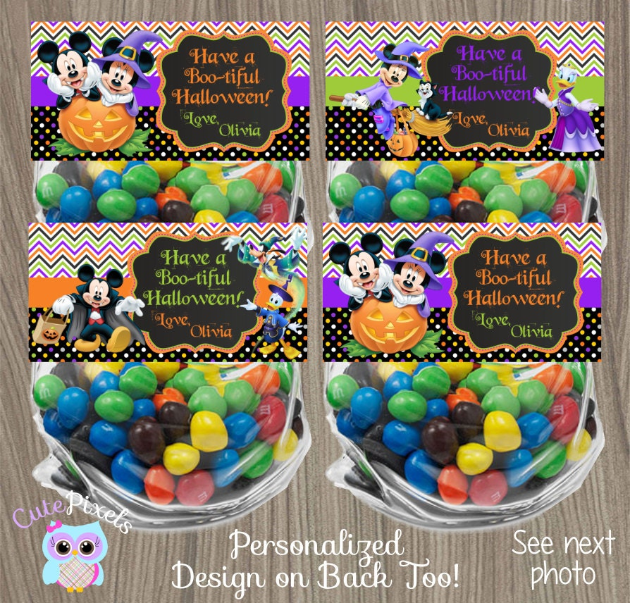 Mickey Mouse Halloween Bag Toppers Halloween Treat by ...