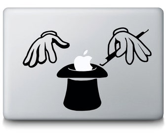 Magic Hat Bunny Trick MacBook Decal - Apple Mac Laptop Vinyl Decal Sticker