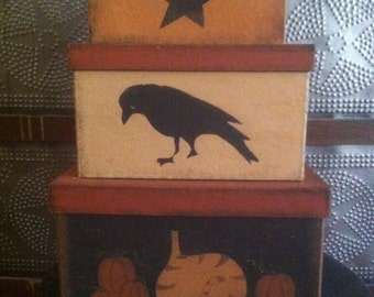 Primitive Fall Stacking Boxes