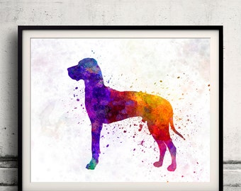 Great Dane 01 in watercolor 8x10 in. to 12x16 in.  Fine Art Print Glicee Poster Decor Home Watercolor Illustration Dog Great Dane - SKU 0994