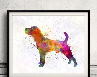 Jack Russell Terrier 01 in watercolor 8x10 in. to 12x16 in.  Fine Art Print Poster Decor Home Watercolor Illustration Dog - SKU 1005