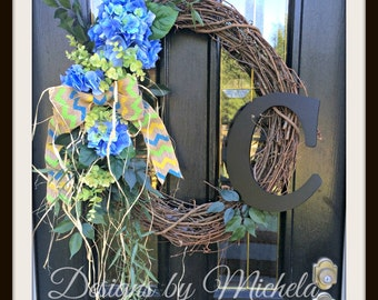 Vine Initial  Wreath, BR136