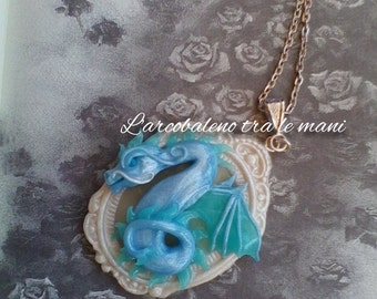 Handmade cameo handmade Cameo Dragon Dragon