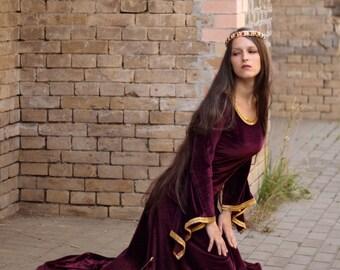 Medieval Style Costume, Pre-Raphaelite Dress, Bliaut
