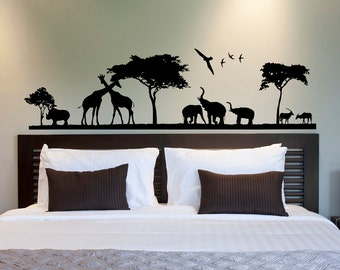 Safari Wall Decal Etsy - Nursery wall decals jungle