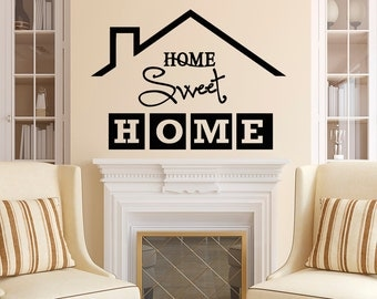 Home Sweet Home Wall Decal Quote  Home Sweet Home Sign Vinyl Lettering  Family Wall Decal