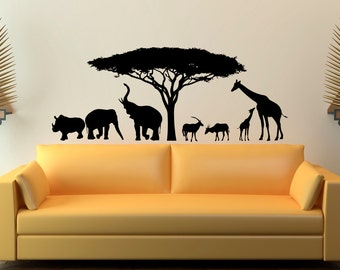 Animal Wall Decal Etsy - Wall decals animalsanimal wall decal animals wall art stickers animal wall