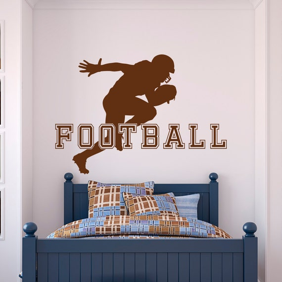 Football Wall Decal Sports Man American Football Player Sport Wall ...