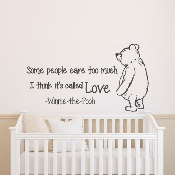 Winnie The Pooh Wall Quotes: Wall Decals Quotes Winnie The Pooh Wall Decal Quote Some