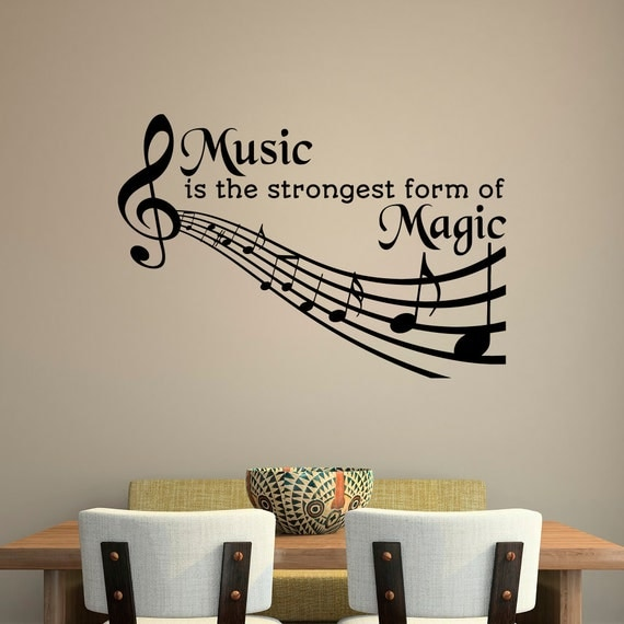 Wall Art Quotes From Songs : Music quotes wall decal is the strongest form of magic