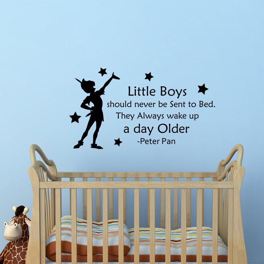peter pan wall decal quote little boys should never be sent to details peter pan wall decal quote