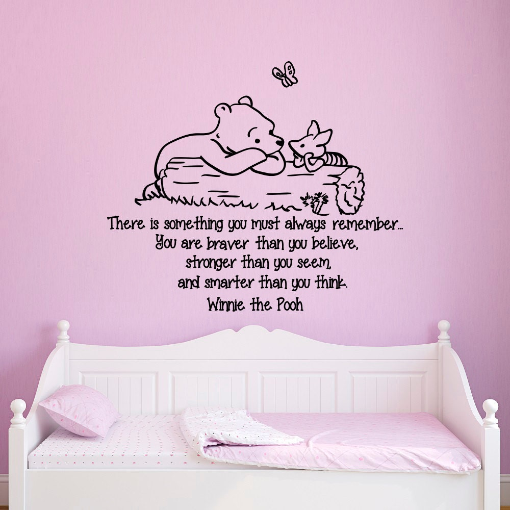 Winnie The Pooh Wall Quotes: Wall Decals Quotes Winnie The Pooh You Are Braver Than You